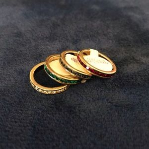 Set of 4 14kt Gold Electroplated Rings - NWT